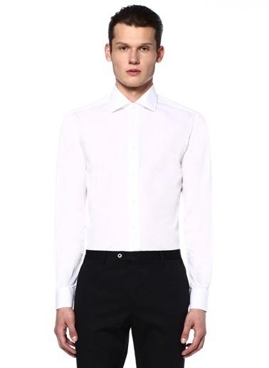 Corneliani Uzun Kollu Klasik Gömlek Beyaz